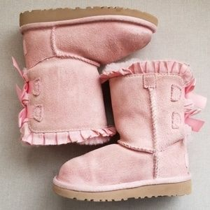 Baby UGG boots bailey bow pink size 8